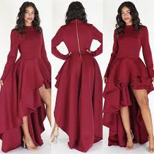 peplum dress women sleeve high low peplum dress bodycon casual party