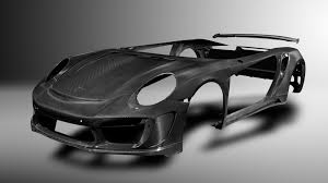 porsche stinger old tuner previews carbon fiber body for porsche 911 turbo
