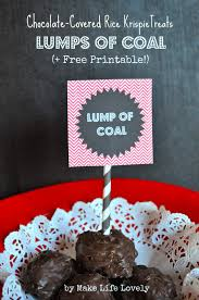 chocolate lumps of coal free printable make life lovely