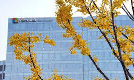 microsoft siege social siège social de microsoft et le palais de gyeongbokgung photo stock