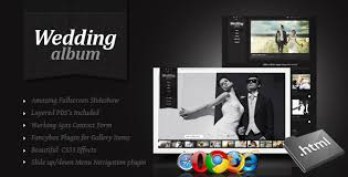 large wedding photo albums wedding album premium non responsive site template for online