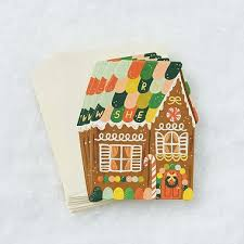 gingerbread house die cut cards paper source