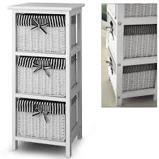 Wood Storage Cabinets With Drawers 3 Drawer Storage Cabinet With 3 Baskets Shelf Storage Unit