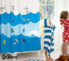 amazon com pottery barn kids dr seuss tm grommet shower curtain