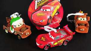 more cars hallmark ornaments mater and lightning mcqueen
