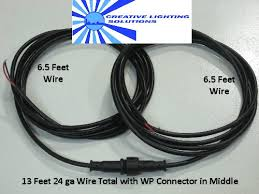 wire waterproof connector set 6 foot leads each side m f