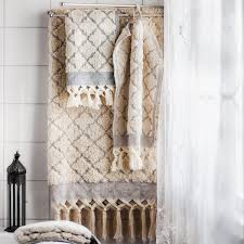 craft collective bath towel fringe tile