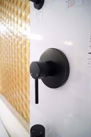 Shower Bath Mixer Fosca Round Matte Black Lollipop Pin Lever Wall Mount Shower
