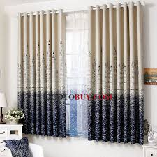 blue castle cheap baby curtains for bay windows buy blue print