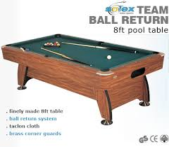pool table ball return system 8ft pool table with ball return solex team