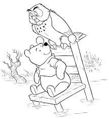 winnie pooh owl coloring pages winnie pooh coloring