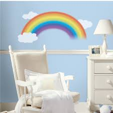 white clouds wall stickers nursery wall stickers roommates wall rainbow giant wall stickers