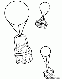 balloon coloring pages kids coloring