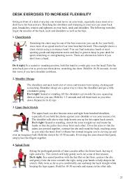 Office Workouts At Your Desk by Elementary Workout Schedules For Office And Home Workers