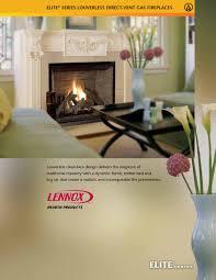 lennox eldv louverless gas fireplace by showroom partners issuu