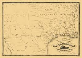 New Orleans On Map Old Railroad Map Texas And New Orleans Railroad 1860