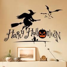 halloween wall art u2013 happy font b halloween b font font b witch b