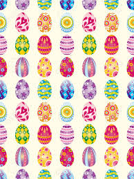 seamless easter egg pattern cartoon vector illustration royalty