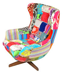 Patchwork Upholstered Furniture - egg chair by upcycled patchwork upholstery ox