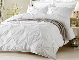 pinch pleat design white comforter and duvet bedding set u2013 home