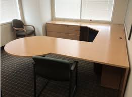 U Shaped Office Desk Houston Knoll Reff Maple Veneer U Shaped Desk Set Office