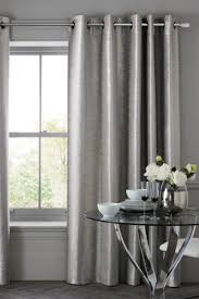 Grey Metallic Curtains