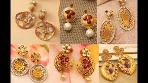 gold earrings light weight gold earrings designs with price