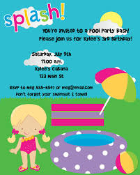 Backyard Birthday Party Invitations by First Birthday Pool Party Invitations Drevio Invitations Design