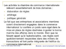 chambre de commerce internationale la chambre de commerce internationale ppt télécharger