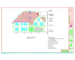 Home Elevation Design Free Download Autocad Architectural Drafting Samples