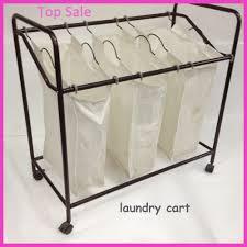 laundry room trendy vintage metal laundry basket on wheels large