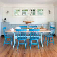 Teal Dining Table by Trestle Dining Table Maple Top