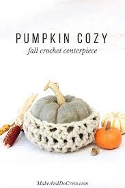 free fall crochet pattern thanksgiving pumpkin cozy