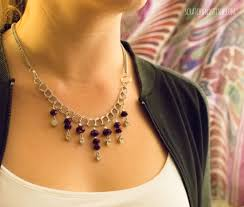purple necklace chain images Purple chain statement necklace by jpg