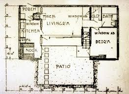 pueblo house plans plan of one unit pueblo ribera court r schindler 1923 archi
