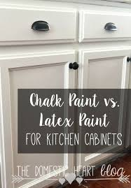 Chalk Paint Vs Latex Paint For Kitchen Cabinets DIY Farmhouse - Diy paint kitchen cabinets