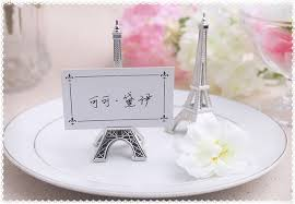 eiffel tower table centerpieces 100pcs evening in eiffel tower silver finish place card
