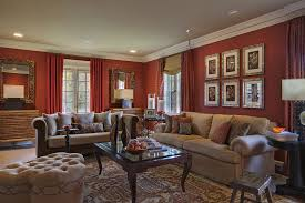 gold and burgundy living room living room traditional with round
