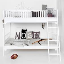 Bunk Bed With Shelves Seaside Bunk Bed With Slant Ladder Oliver Furniture