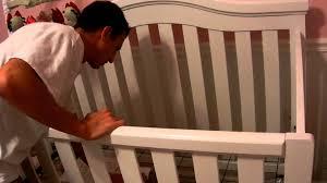 Bonavita Convertible Cribs by Lowering Of The Crib Mov Youtube