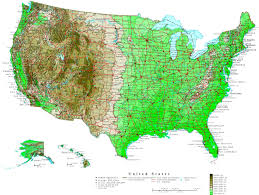 Highly Detailed River Map Of by Physical Map Of The United States