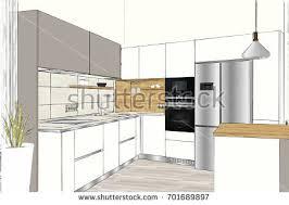 Kitchen Design Sketch Dining Room Sketch Stock Images Royalty Free Images U0026 Vectors