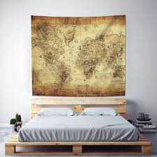 Map Tapestry Amazon Com Antique Map Tapestry Wall Hanging U2013 Uphome Light