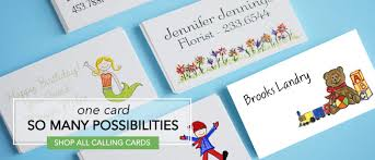 personalized calling cards and enclosure cards for