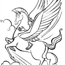 hercules coloring page hercules and pegasus in action coloring pages bulk color