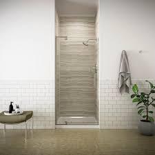 Shower Doors Kohler Revel 36 In W X 70 In H Frameless Pivot Shower Door In