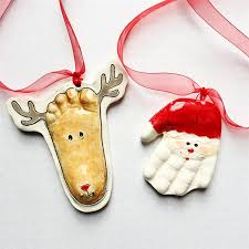 and foot print baby ornaments personalized
