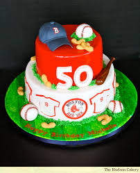 50th birthday red sox cake the hudson cakery