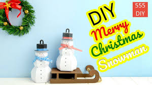 diy snowman paper craft christmas tree ornament ideas 2017 youtube