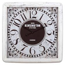 yosemite home decor 32 in x 32 in square iron wall clock with